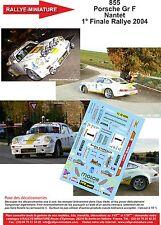 DÉCALS  1/18 réf 855 Porsche Gr F Nantet  1° Finale Rallye 2004