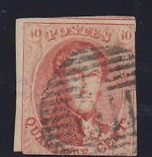 Alt Belgien-Mi.-Nr.9 Platte I-König Leopold I.im Oval-ohne Wz.-1858-gebraucht