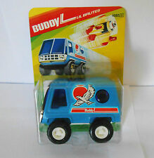 VINTAGE 1979 BUDDY L LIL BRUTES BLUE VAN STEEL & PLASTIC UNUSED ON CARD
