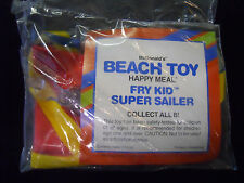 VINTAGE! 1990 McDonald's Happy Meal Beach Toys Fry Kid Super Sailer