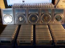 (LOT OF 100) PCGS PROOF 69DCAM COINS-FRESHLY GRADED-$1600.00  COST JUST TO GRADE