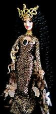 Golden Medusa ~ Greek Gorgon Snake Goddess Grand Beauty ~Barbie doll OOAK