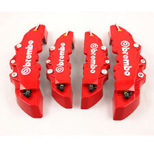 4pc 3D Car Truck Disc Brake Caliper Covers Front&Rear Red Brembo Style Universal