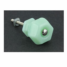 Home Decor New Opaque Jadeite Green Glass Drawer Pull Cabinet Door Knob