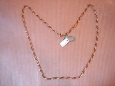 CHAINE PLAQUE OR MAILLE MEDIUM LONG 50 CM 3 G VINTAGE NEUF/NEW GOLD PLATED CHAIN