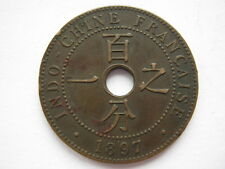 French Indo China 1897-A 1 Centime GVF