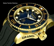 Invicta 47mm Grand Diver 2 Gen II Automatic Gold Tone Navy Blue Dial Poly Watch