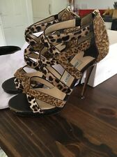 Jimmy Choo Size 37 / 4 In Box Animal Print Pony Skin Brown Heels With Dust Bag