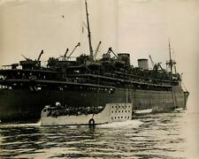 Troopship World War II. Large Silver Print