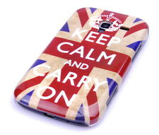 Hülle f Samsung Galaxy Ace + plus S7500 Schutzhülle Case Cover keep calm England