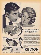 PUBLICITE ADVERTISING 015 1958 KELTON montres homme ou femme