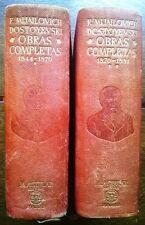 AGUILAR - Fiodor M. DOSTOYEVSKI - Obras completas - 2 tomos 1946 Cansinos Assens