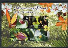 Grenadine Grenada 2005 MNH CARNIVOROUS PLANTS di Caraibi 4V M / S FLORA