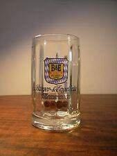 Boccale Vetro Germania B&E MEMMINGEN 1970 Vintage Beer Mug Bierkrug Verre Biere