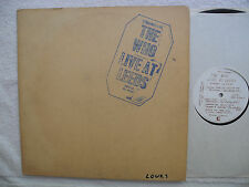 "THE WHO - ""Live At Leeds"" LP - 1970 ORIG US PRESS (Decca) - 11 Inserts No Poster"