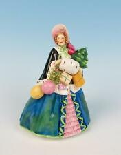 "Vintage Royal Worcester LARGE ""Noel"" Figurine Girl Presents Porcelain Christmas"