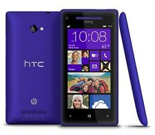 "HTC Windows Phone 8X - 16GB Blue (Unlocked) Smartphone 4.3"" 5MP Grade C"