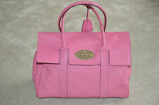 Mulberry Raspberry Pink Bayswater Leather Large Womens Shoulder Handbag