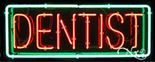 "BRAND NEW ""DENTIST"" 32x13 BORDER REAL NEON SIGN w/CUSTOM OPTIONS 10048"