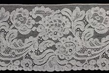 "Antique Valenciennes French Net Off-White Lace 4-1/8"" Wide"