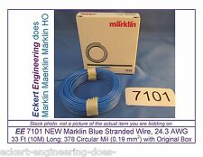 EE 7101 NEW Blue Märklin HO 33 ft (10m) 24.3 AWG Stranded Wire Single Conductor