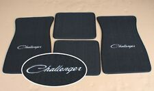 901-CHALL Dodge Challenger Black Red Loop Floor Mats With Embroidered Logo