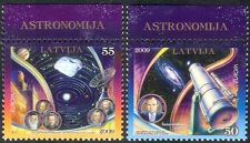 Latvia 2009 Europa/Astronomy/Astronomer/Telescope/Space/Planets 2v set (n32053)