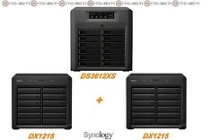 € 2442+IVA SYNOLOGY 36-Bay NAS DS3612XS + 2x DX1215 Infiniband - 1-Year Warranty