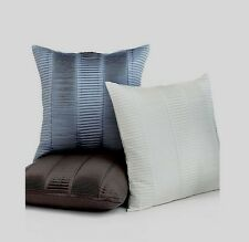 """Hotel Collection Deco Modern Pleated Ivory 20"""" Square One Decorative Pillow"""