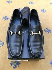 Gucci Womens Shoes Black Leather Horsebit Loafer Driver UK 6 US 8 EU 39 Ladies