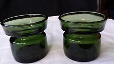 Dansk Designs 1960's 2 candle holders/votives. Green glass Jens Quistgaard pair