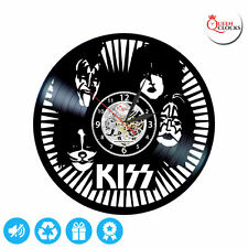 KISS Best Handmade Wall Clock Made Of Vinyl Record Gift Party Room Decor