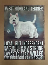 West Highland Terrier - Tin Metal Wall Sign