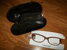 TOM FORD Clear Non Perscription Lens Eye Glasses Lt Havana FRAME w CASE $295 NEW