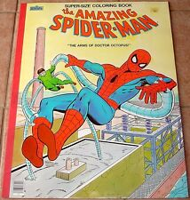 AMAZING SPIDERMAN SUPER SIZED GIANT STORY COLORING BOOK VFNM 1983 ARMS DOC OCK