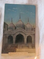 Vintage Colour postcard of Pearl Mosque in Fort Delhi, India, Asia
