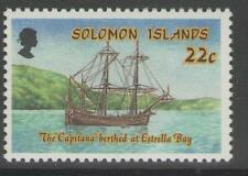 SOLOMON ISLANDS SG622w 1988 INDEPENDENCE 22c WMK CROWN TO RIGHT OF CA MNH