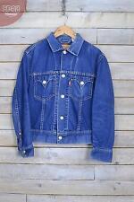 Vintage Levi's Bleu Moyen Camionneur Veste En Jeans (M)