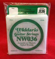 D´Addario Gitarrensaiten NW036 für akustische oder elektrische Gitarre - 5 Stück