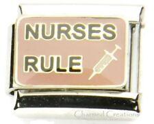 9mm Italian Charm Nurses Rule Shot RN Medical Staff Hospital Nurse Graduate Link
