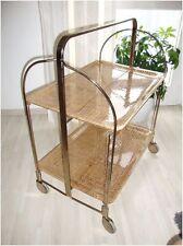 Servierwagen Teewagen Rollwagen Retro Vintage / Shabby Korb Acryl Plexiglas RAR