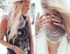 Retro Bohemian Ethnic Coin Belly Dance Festival Jewelry Statement Necklace New