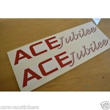 ACE Jubilee - (STYLE 5) - Caravan Roof Name Stickers Decals Graphics - PAIR