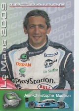 Jean-Christophe Boullion Pescarolo Sport Racing Promo Card 2009 Le Mans.
