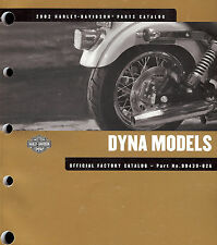 2002 HARLEY-DAVIDSON DYNA PARTS CATALOG MANUAL -NEW SEALED-FXDL FXDX FXDXT FXDWG