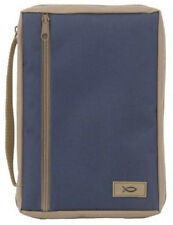 Canvas Bible Cover - Extra Large - Navy/Tan