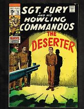 Sgt Fury and his Howling Commandos #75 ~ The Deserter ~ 1970 (6.5) WH