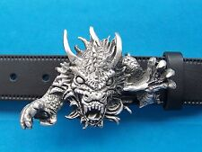 Pewter Belt Buckle Dungeon Dragon Made in England FREE UK POST Myth and Magic