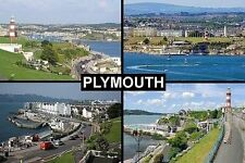 SOUVENIR FRIDGE MAGNET of PLYMOUTH DEVON ENGLAND