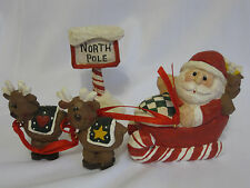 Eddie Walker Midwest of Cannon Falls Santa & Sleigh Set North Pole for Homeplace
